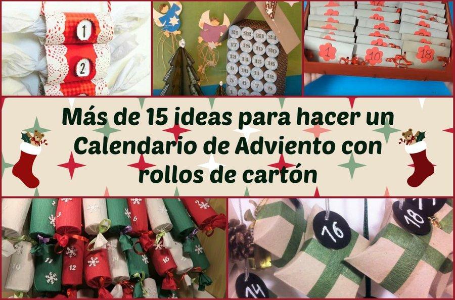 ideas para hacer en casa Ms De 15 Ideas Para Hacer Calendarios De Adviento Con
