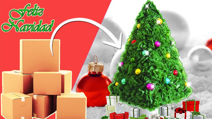 Árbol de Navidad reciclado | Manualidades