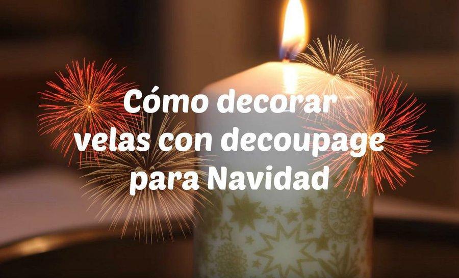 Como Decorar Velas Con Decoupage Para Navidad Manualidades - Como-decorar-una-vela