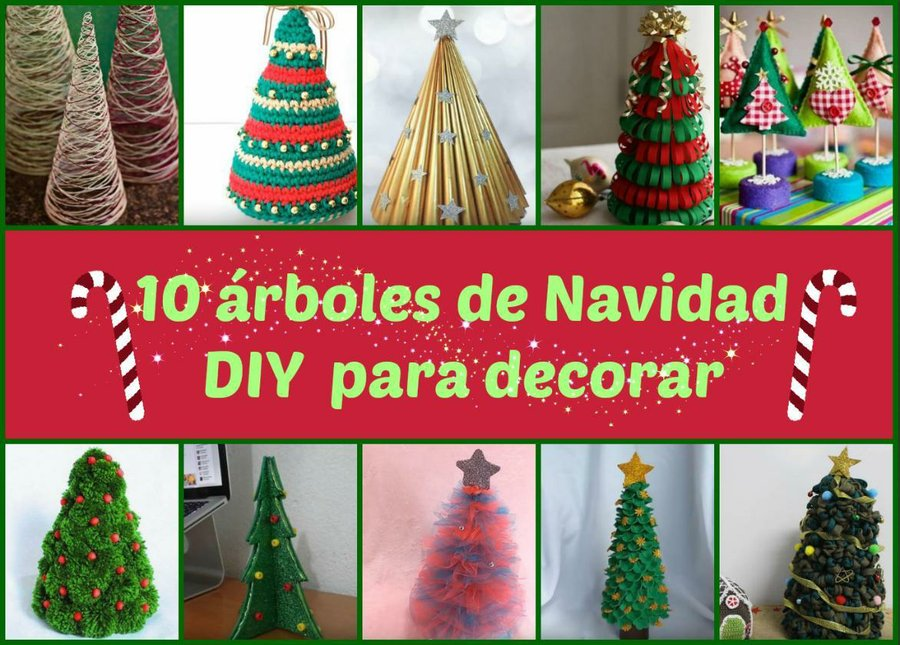 10 árboles de Navidad DIY para decorar | Manualidades