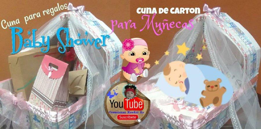 Ideas Originales Para Regalar En Un Baby Shower.Cuna Reciclada Para Regalos Baby Shower O Para Munecas