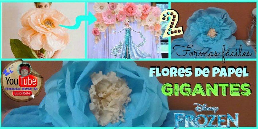 Flores Gigantes De Papel Crepe Diy Manualidades