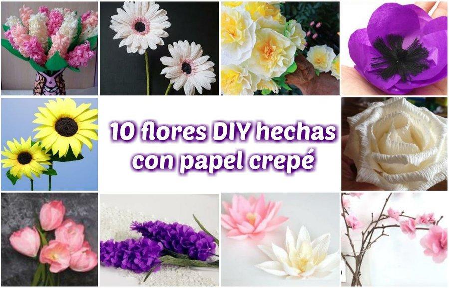 10 Flores Diy Hechas Con Papel Crepe Manualidades
