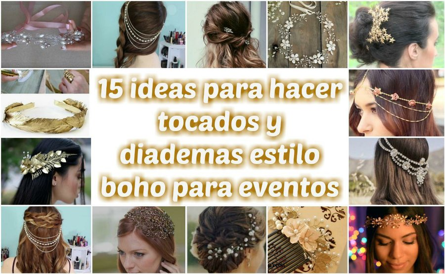 15 ideas para hacer tocados y diademas estilo boho para eventos ... 324bfe972879