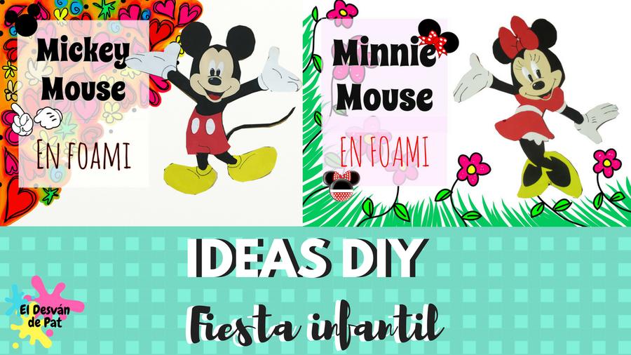 Mickey Y Minnie Mouse En Goma Eva Para Decorar Fiestas Manualidades
