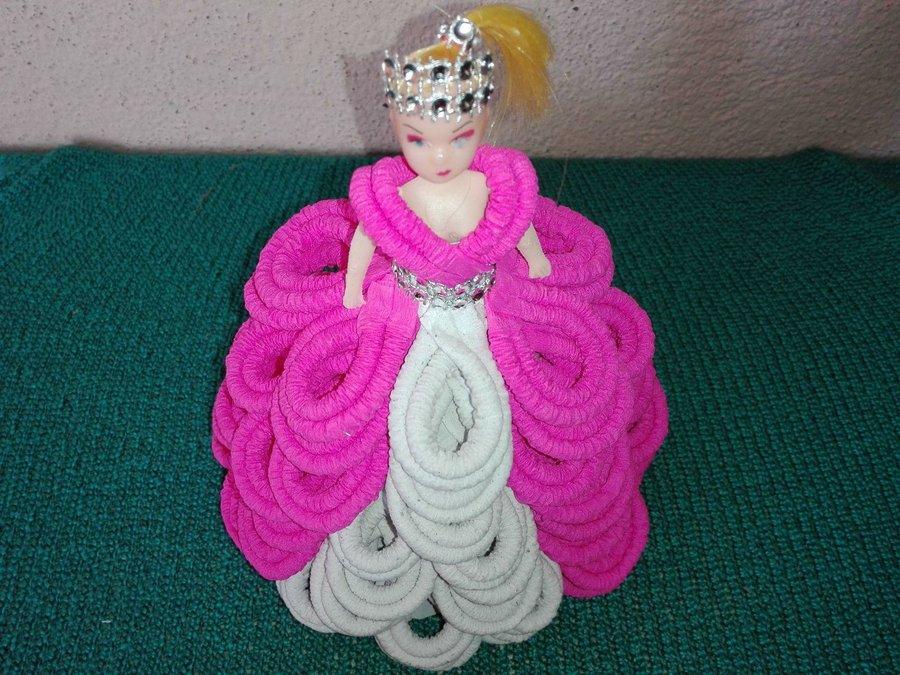 Vestido De Quince Años Para Muñeca Barbie Elaborado Con