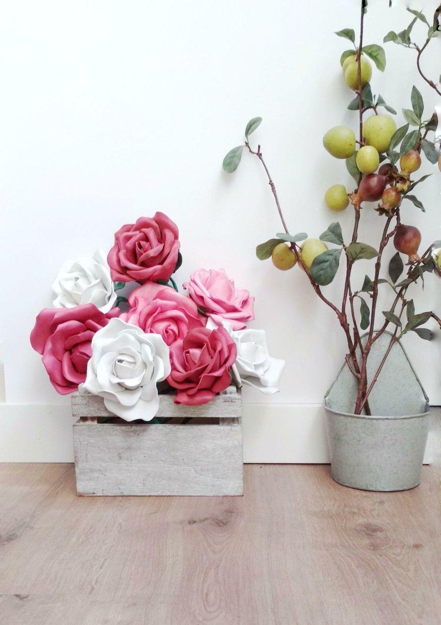 Flores Artificiales Con Goma Eva Y Lana Manualidades - Manualidades-con-flores-artificiales