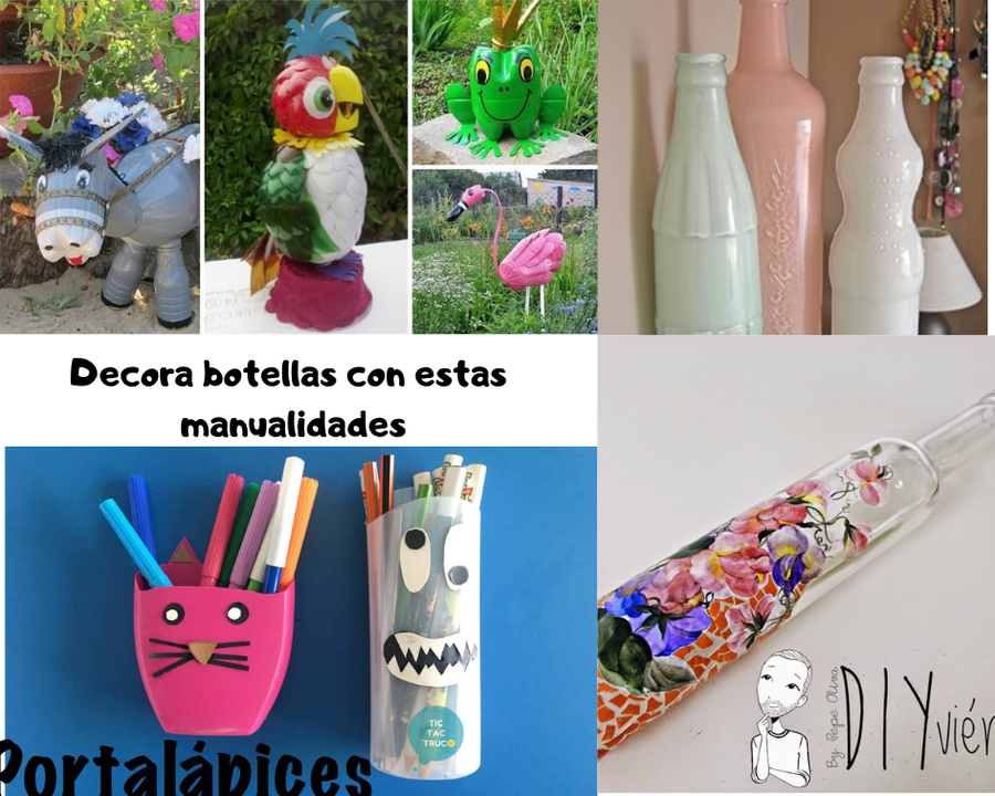 Aprende Con Estas Manualidades A Decorar Botellas Manualidades