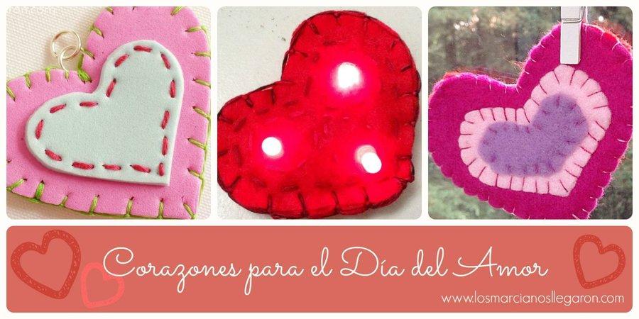 3 Corazones Cosidos Para El Dia Del Amor Manualidades