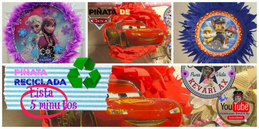 Piñatas Con Material Reciclado Muy Fácil En 5 Minutos Listas