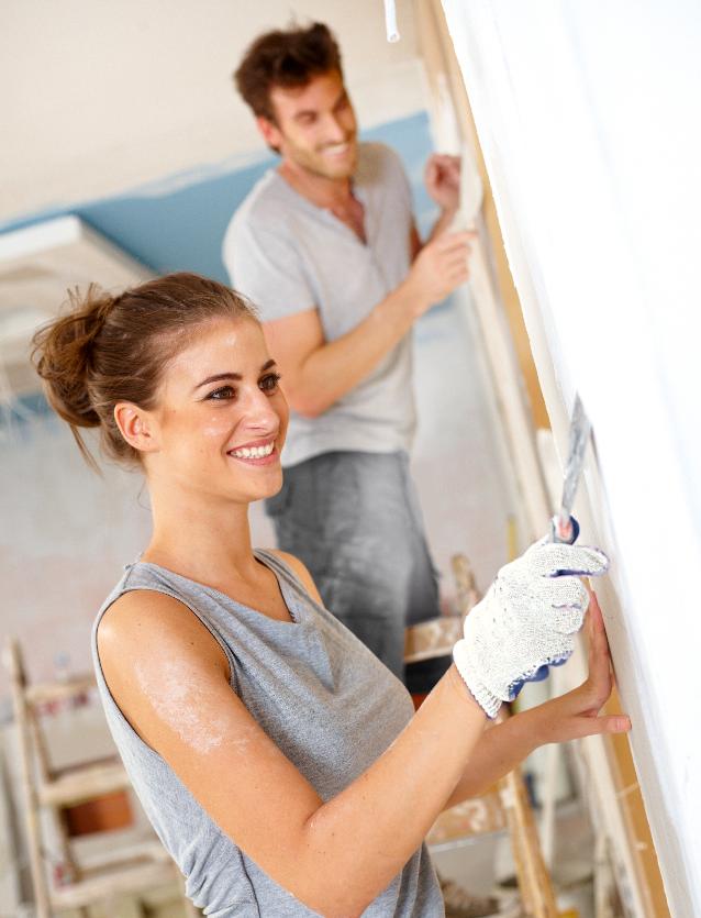 Antes de pintar prepara bien tus paredes bricolaje - Alisar paredes leroy merlin ...