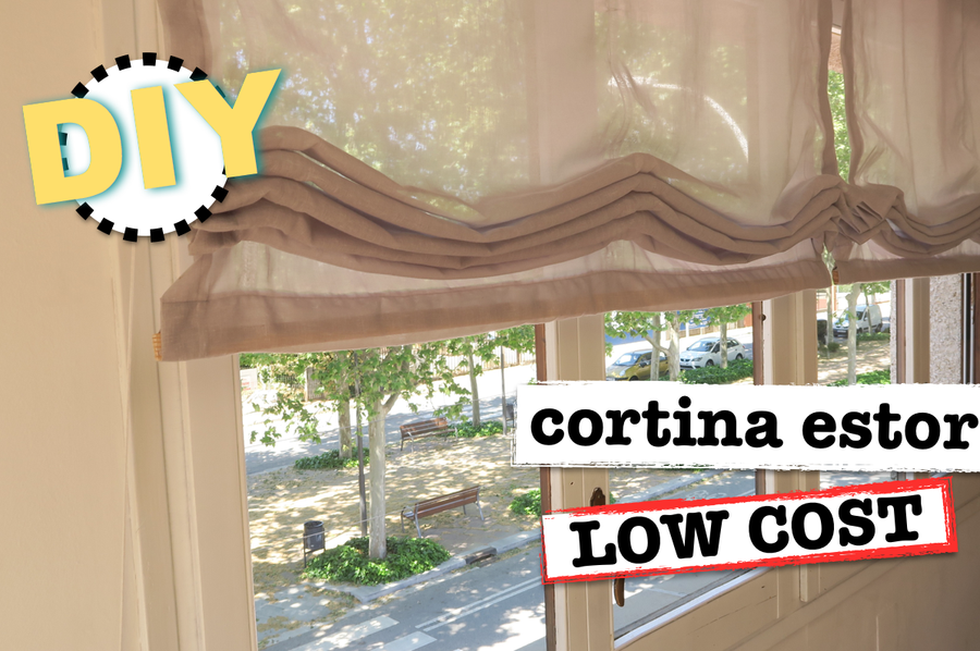 Diy c mo hacer cortinas estor low cost manualidades - Estores low cost ...