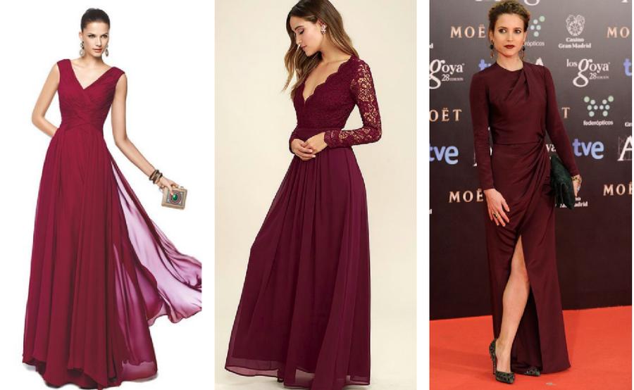 Vestidos color vino para bodas | Bodas