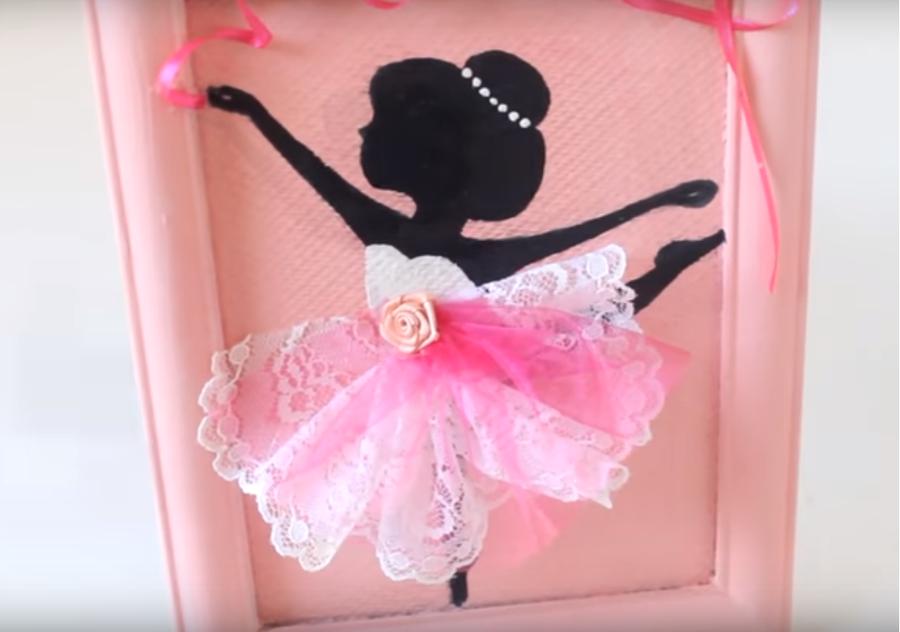 70b9c5ad6f Cuadrito de bailarina para decorar la habitación de las niñas - DIY ...