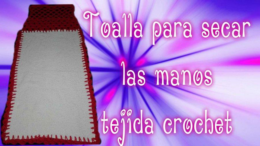Toalla para secar las manos a crochet by Dulce Corazón   Manualidades