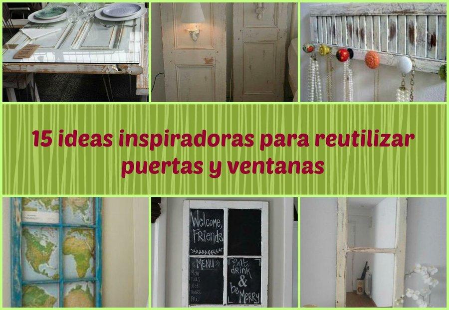 15 ideas inspiradoras para reutilizar puertas y ventanas | Bricolaje