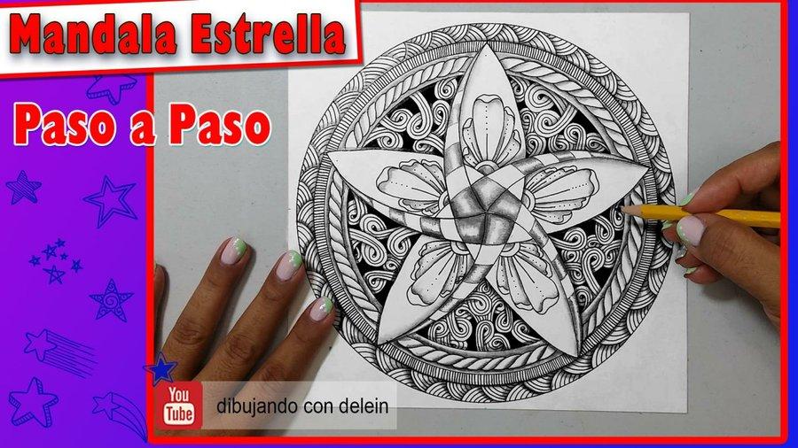 Como Dibujar Un Mandala Decorado Con Zentangle Zendala Paso A Paso