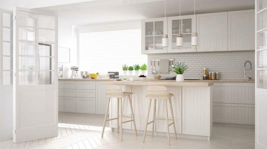 cocinas rectangulares con isla cocina abierta o cerrada conoce sus ventajas y