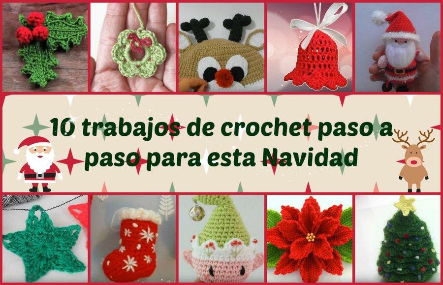 Arbolitos de navidad a crochet, con vídeos tutoriales incluidos ...
