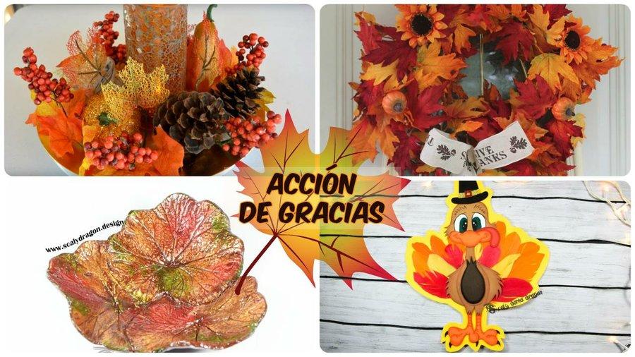 Decoración Para El Día De Acción De Gracias Manualidades