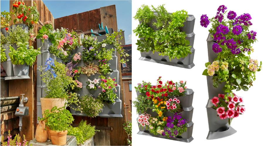 20 manualidades para el balc n terraza o jard n peque o for Jardin vertical terraza