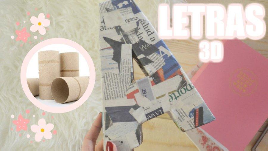 Cómo hacer Letras de Cartón en 3D Decora tu cuarto Manualidades con Cartón Manualidades