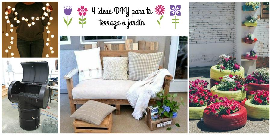 4 Ideas Diy Para La Terraza O El Jardín Bricolaje