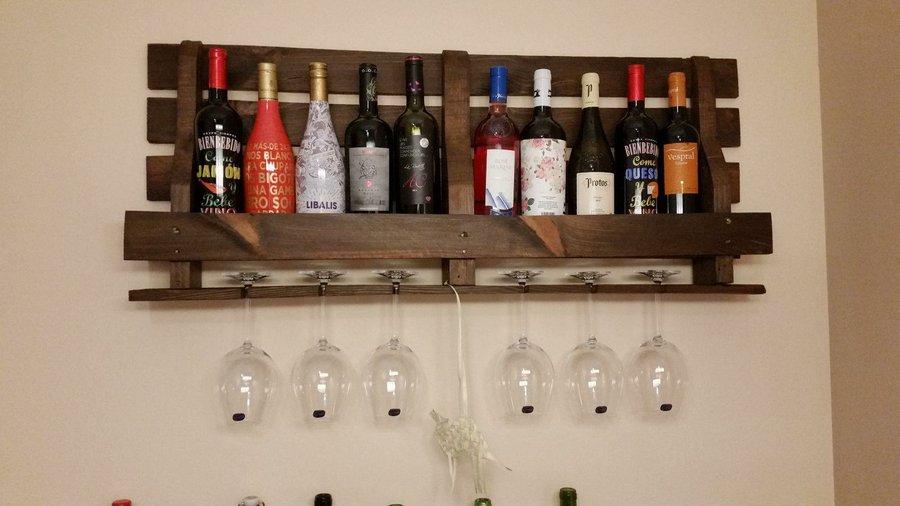 Botellero Hecho Con Palet Reciclado Bricolaje - Reciclaje-de-palet
