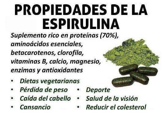 Espirulina sirve alga para que