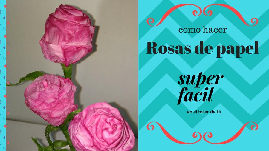 Como Hacer Rosas Con Papel Higienico Manualidades - Cmo-hacer-rosas-de-papel