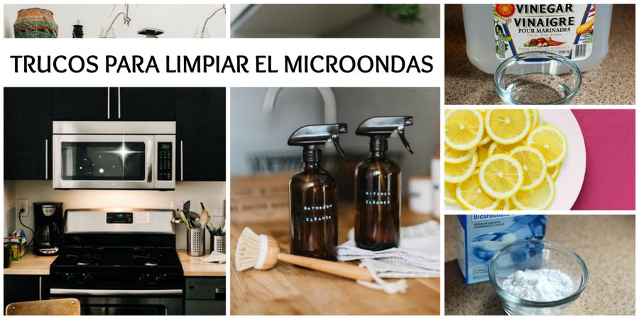 Trucos para limpiar tu microondas en un santiamén