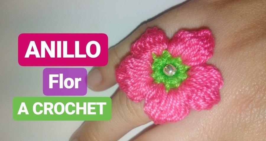 Anillo En Flor A Crochet Idea Facil Paso A Paso Manualidades - Como-hacer-una-flor-a-crochet
