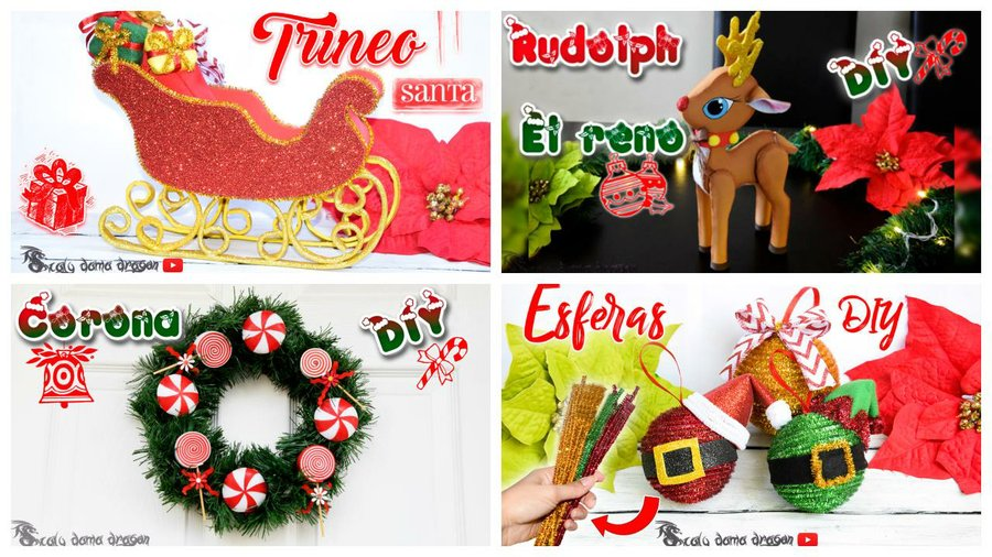 4 ideas para decorar en navidad manualidades - Manualidades para decorar en navidad ...