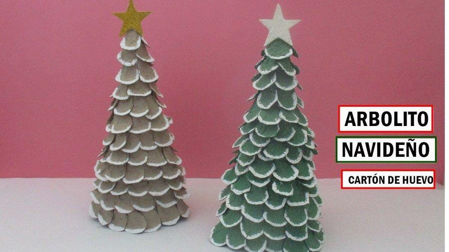 Decorar Casa Navidad Manualidades.Arbol De Navidad Con Carton De Huevo Manualidades