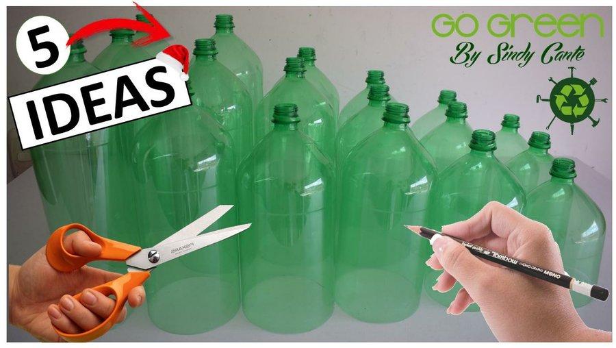 Manualidades Para Navidad Paso A Paso Faciles.5 Manualidades Faciles Con Botellas De Plastico Para Decorar