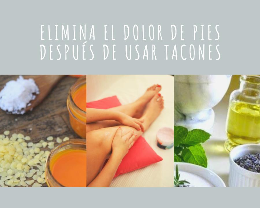 Como curar el dolor de pies por tacones