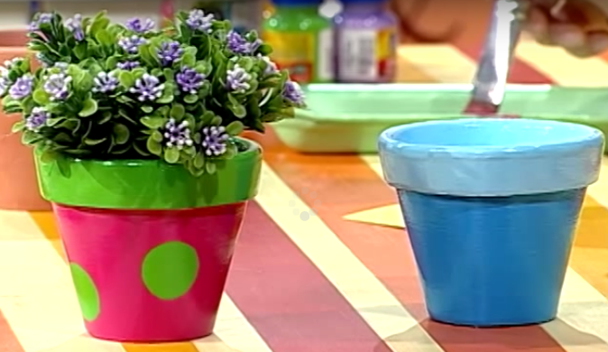 Cómo decorar macetas con pintura | Plantas
