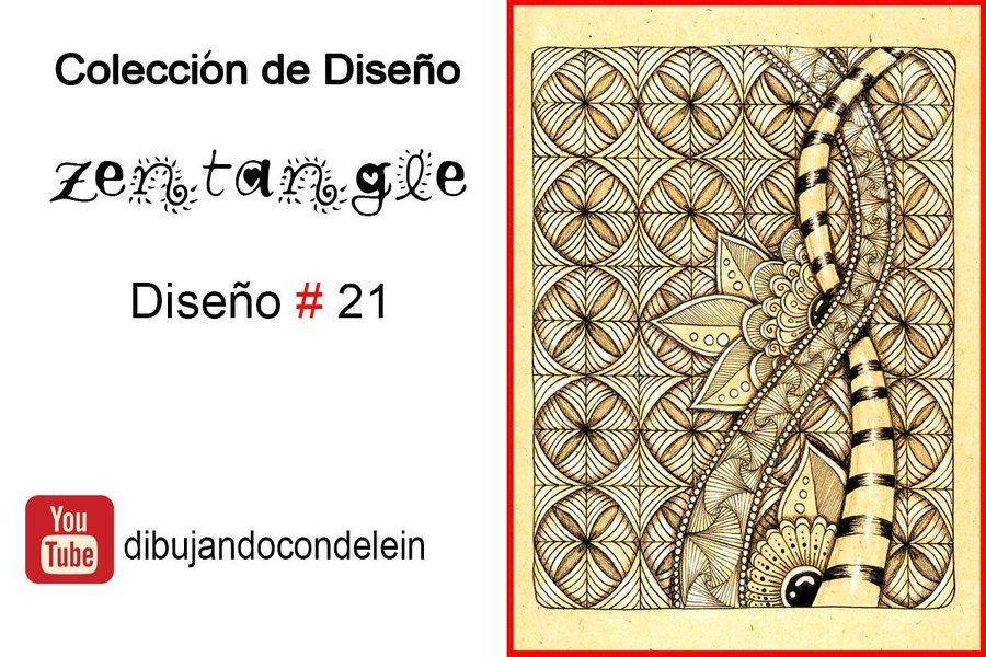 Zentangle Art Paso A Paso Diseno 21 Manualidades