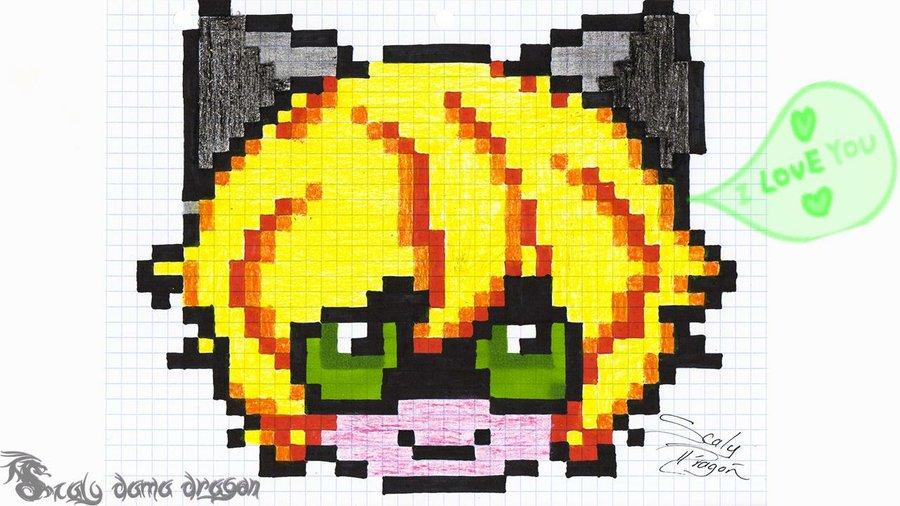 Pintando a Adrien chibi con Pixel art. Cuadrícula para ...