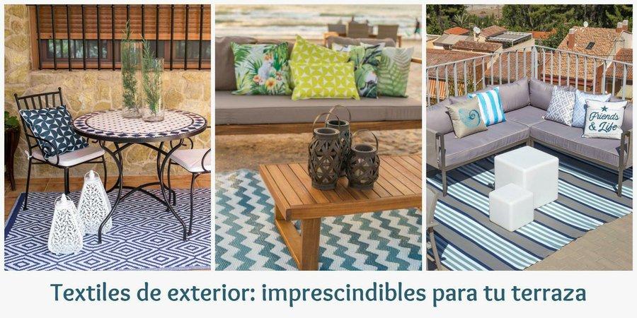 Textiles para exterior tu terraza los necesita decoraci n - Alfombras para terrazas ...