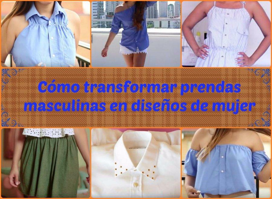 5773384da Ideas para transformar una prenda masculina en un diseño de mujer