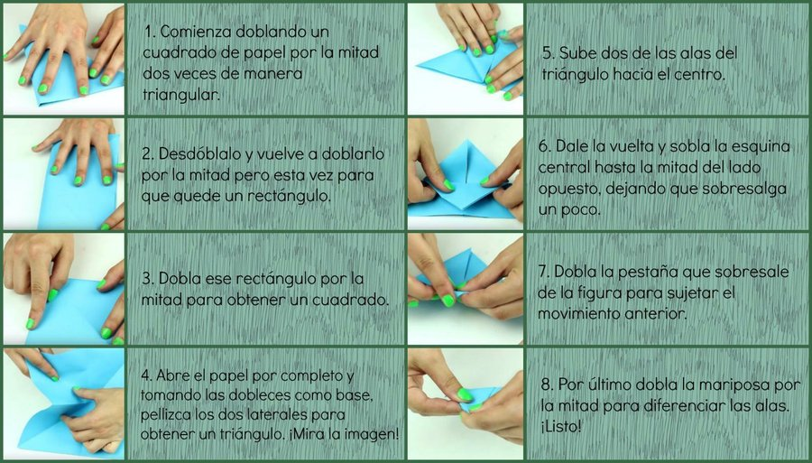 Como Hacer Mariposas De Origami Manualidades