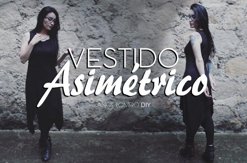 4bcd4cf5e5 Elabora un largo vestido asimétrico con puntas - Strega Fashion lo nuevo  para el estilo oscuro. Cómo hacer ...
