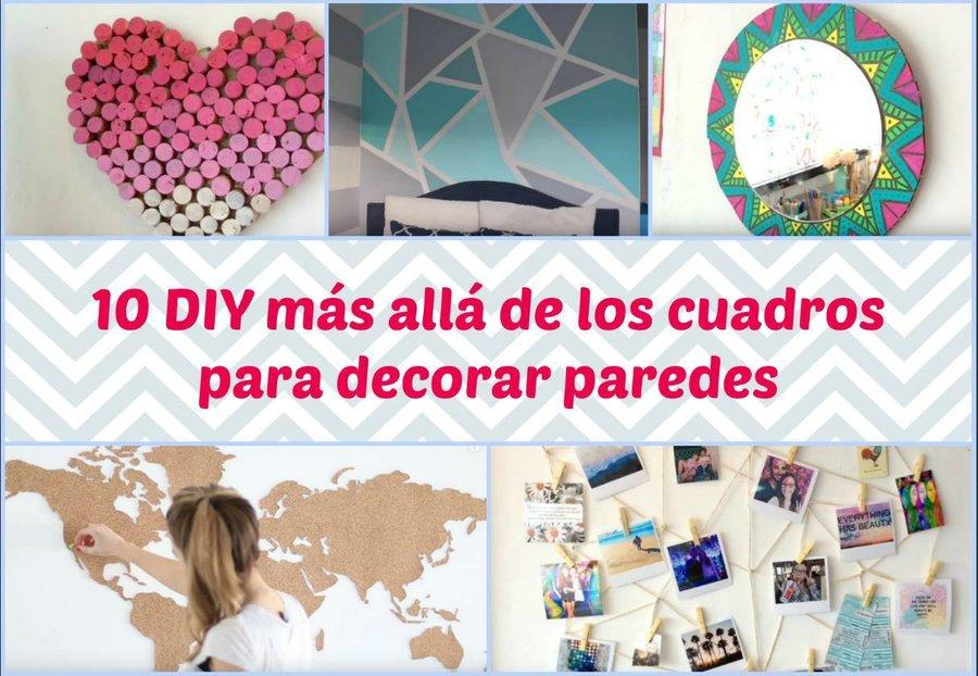 10 DIY más allá de los cuadros para decorar paredes | Manualidades