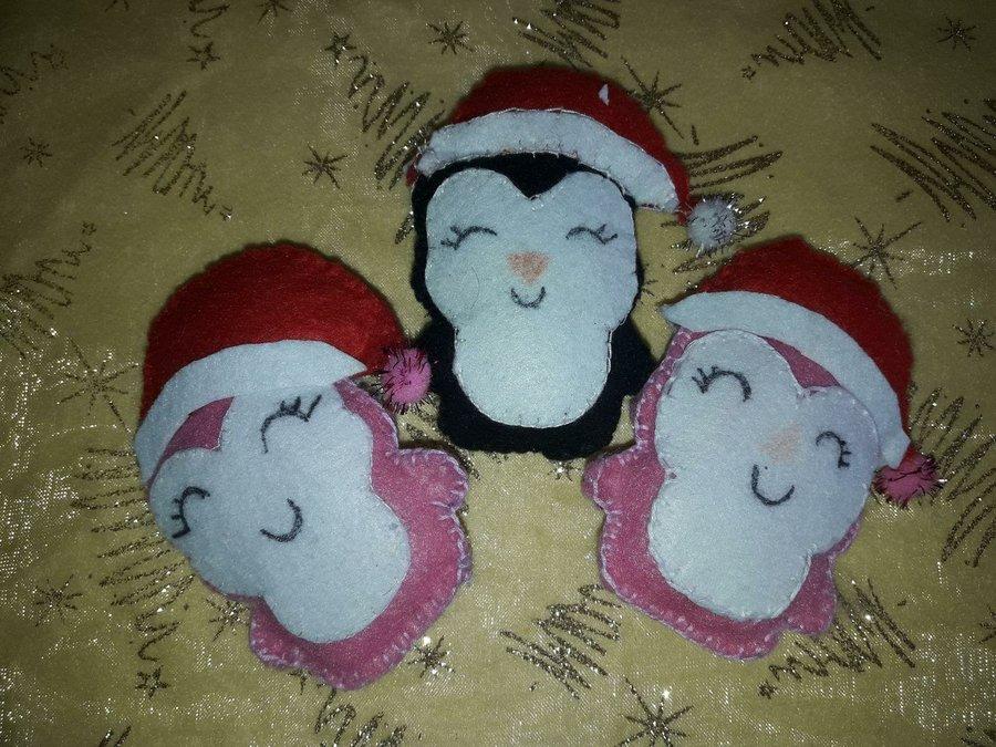 Manualidades Gorros De Navidad.Preciosos Pinguinos Para El Arbol De Navidad Manualidades