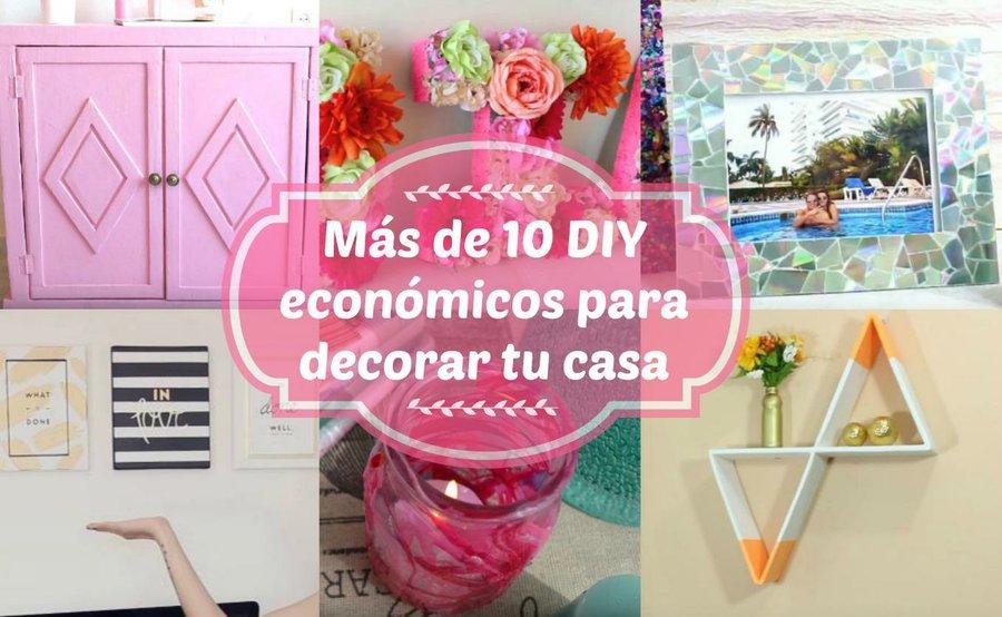 M s de 10 diy econ micos para decorar tu casa manualidades for Manualidades con cosas de casa