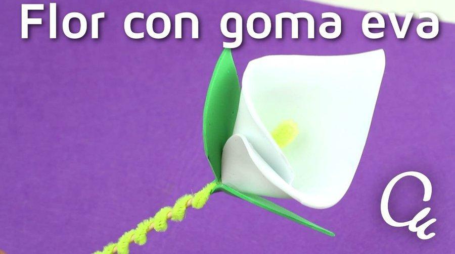 Como Hacer Una Flor Con Goma Eva Manualidades