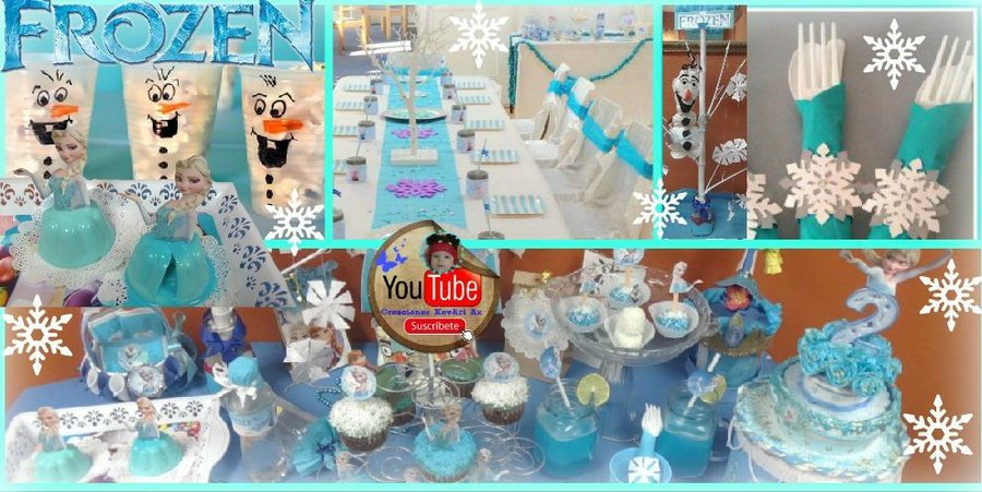 Mesa Dulce De Frozen Diy Manualidades