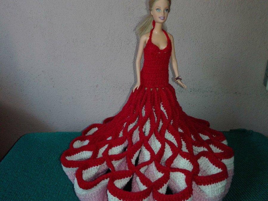 Vestidos a crochet para muñeca Barbie | Manualidades