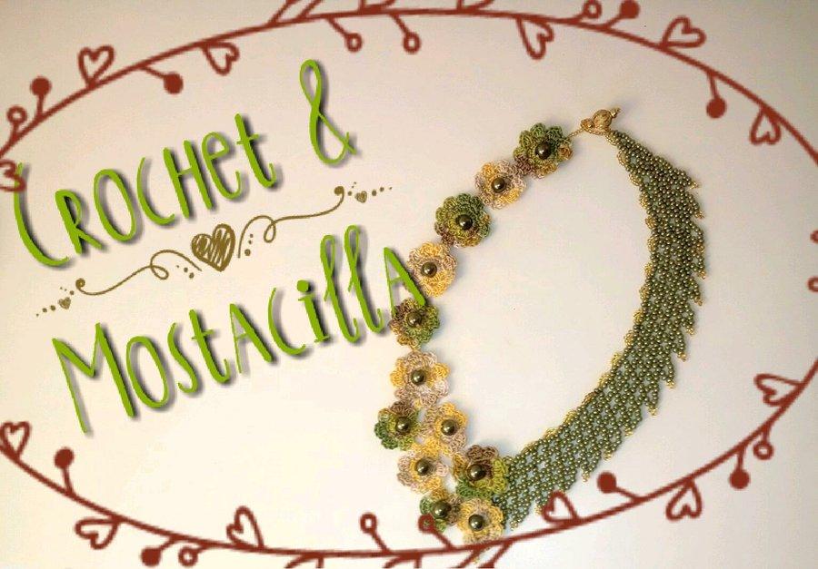 Collar DIY con mostacillas a crochet | Manualidades